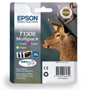 Komplet tinta Epson T1306 (C/M/Y), original