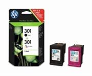 Komplet tinta HP CR340EE (nr.301 BK + nr.301 CMY), dvostruko pakiranje, original