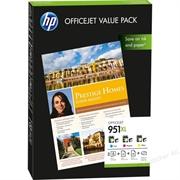 Komplet tinta HP CR712AE nr.951XL (plava, ljubičasta, žuta) + foto papir, original
