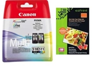 Komplet tinta Canon PG-510 + CL-511, original + foto papir