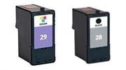 Komplet tinta za Lexmark 18C1428 nr.28 (crna) + 18C1429 nr.29 (boja), zamjenski