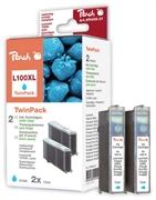 Komplet tinta za Lexmark 14N1069E nr.100XL (plava), dvostruko pakiranje, zamjenski