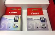 Komplet tinta Canon PG-512 + CL-513, original + fotokopirni papir + POKLON