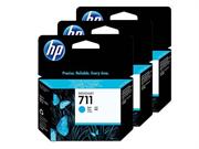 Komplet tinta HP CZ134A nr.711 (plava), 3 komada, original