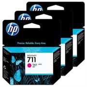 Komplet tinta HP CZ135A nr.711 (ljubičasta), 3 komada, original
