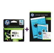 Komplet tinta za HP 1CC21AE nr.953XL (C/M/Y) + L0S70AE nr.953XL (BK) + foto papir, original